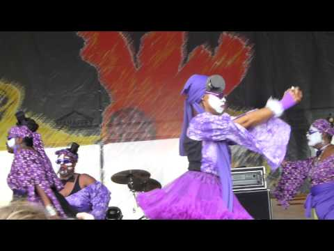 Kumbuka African Dance and Drum Collective at New Orleans Jazz Fest 2015 04-24-2015