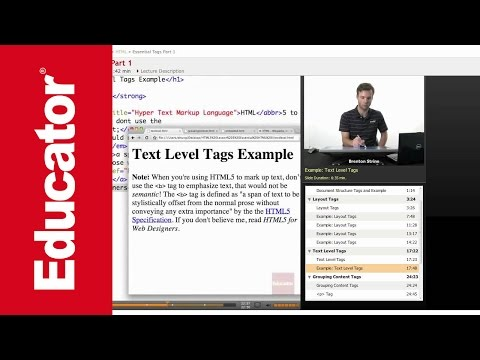HTML: Essential Tags (Text Level Tag)