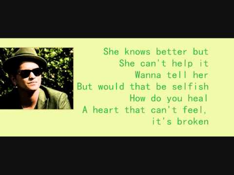 Bruno Mars - All she knows karaoke with lyrics
