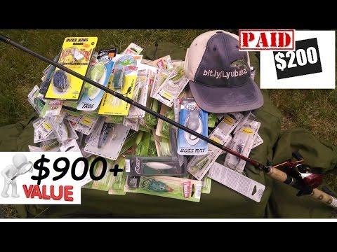 200 unboxing walmart vs lurenet 900 bass fishing baits for Walmart fishing combos
