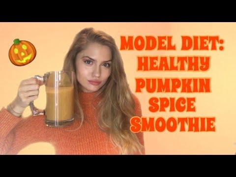 MODEL DIET: HEALTHY PUMPKIN SPICE SMOOTHIE