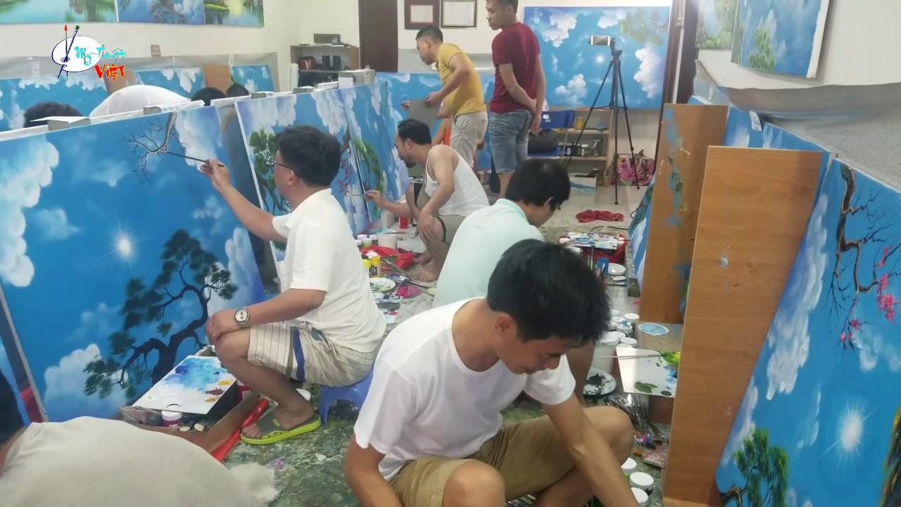 Nhật Ký Ngày thứ nhất khóa học vẽ tranh tường do trung tâm Mỹ Thuật Việt tổ chức khóa K4