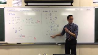 Acceleration in terms of Velocity (2 of 2: Derivation & Example)