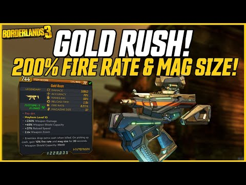 Ohhh Noo.. 200% Buffs on Any Weapon! Gold Rush is INSANE! // Borderlands 3