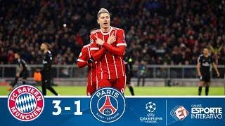 Melhores Momentos - Bayern de Munique 3 x 1 PSG - Champions League (05/12/2017)