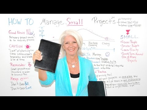 How To Manage Small Projects - Project Management Training