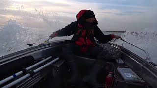 Моя новая лодка Girgis 390DK Испытания в непогоду Рыбалка на Веселовском водохранилище Я доволен