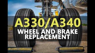 Airbus A340 Main Landing Gear Wheel & Brake Removal / Installation thumbnail