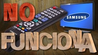 TV Samsung, mando a distancia no funciona