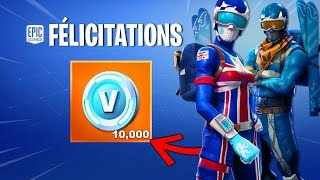 V-BUCKS FREE SI. BACKGROUND SKINS SKIERS AND NEW VÉHICULE ON FORTNITE.