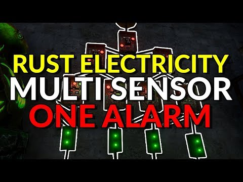 RUST 101: Electricity Guide - Multiple Sensors One Alarm