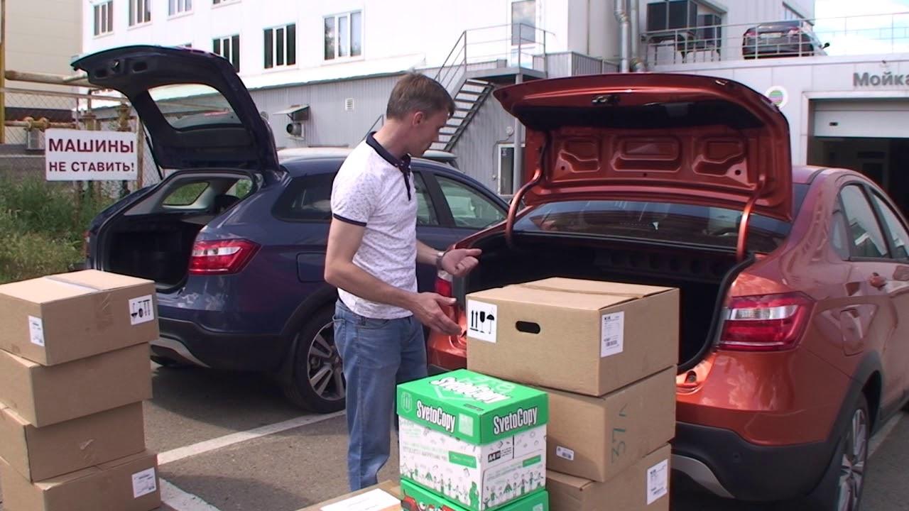 АВТОДРОМ 56  Сравнительный тест объемов багажников Лада Веста