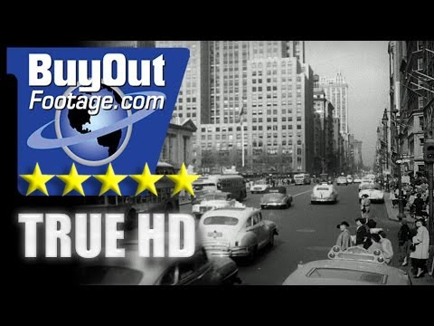 HD Historic Stock Footage - NEW YORK CITY IN THE 1940s