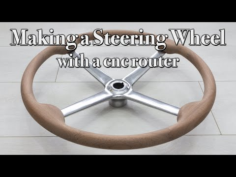 How to Make a Wooden Steering Wheel Rim   Classic Steering Wheel   CNC Cut Wood Steering Wheel