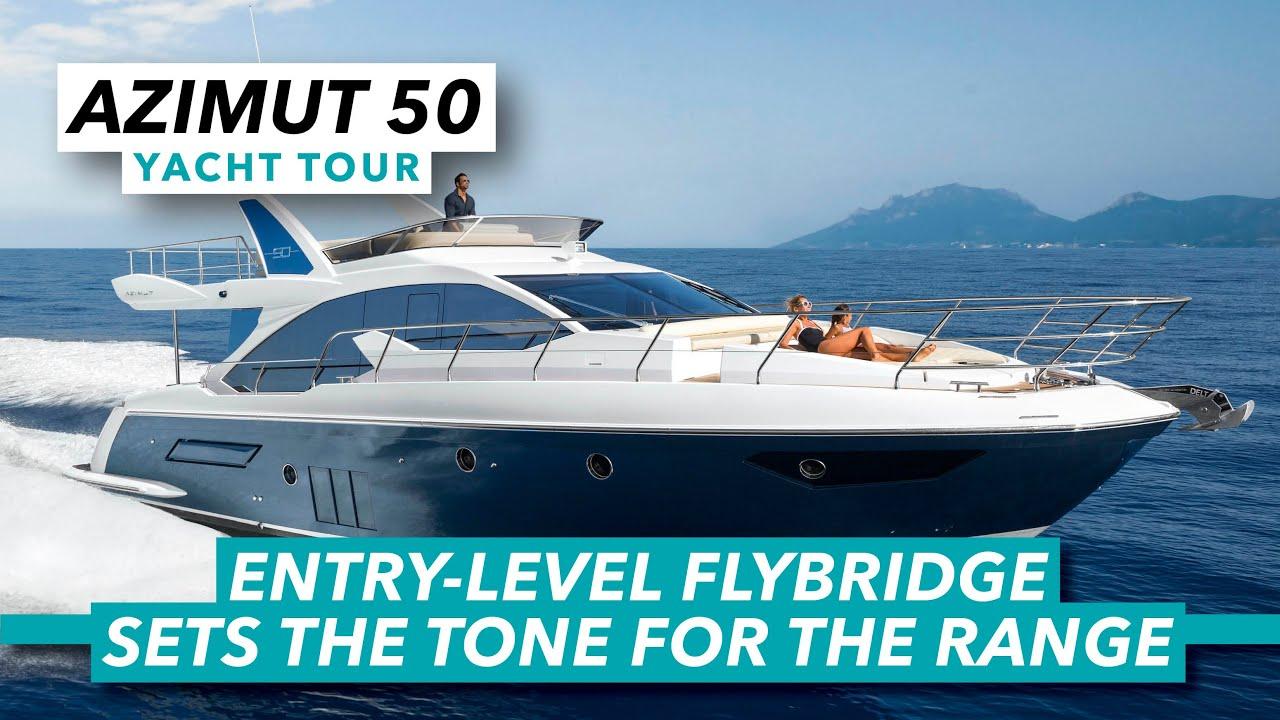 Azimut 50 yacht tour | Entry-level flybridge sets the tone for the range | Motor Boat & Yachting