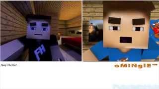 Видеочат -  Minecraft Анимация(Все наверное знают что такое видеочат) Вот так это выглядит со стороны MineCraft Оригинал - https://www.youtube.com/watch?v=J5Nmqq..., 2014-10-12T12:08:14.000Z)