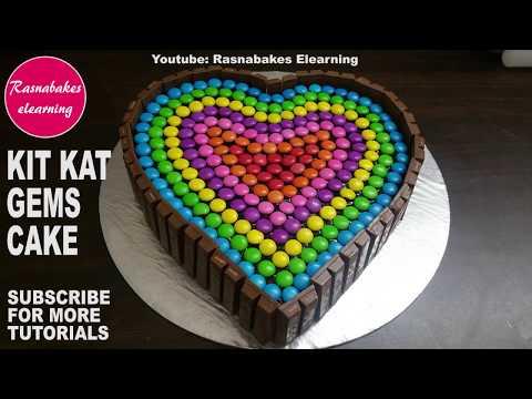 How to make Kit kat cake design:Chocolate birthday cake ideas