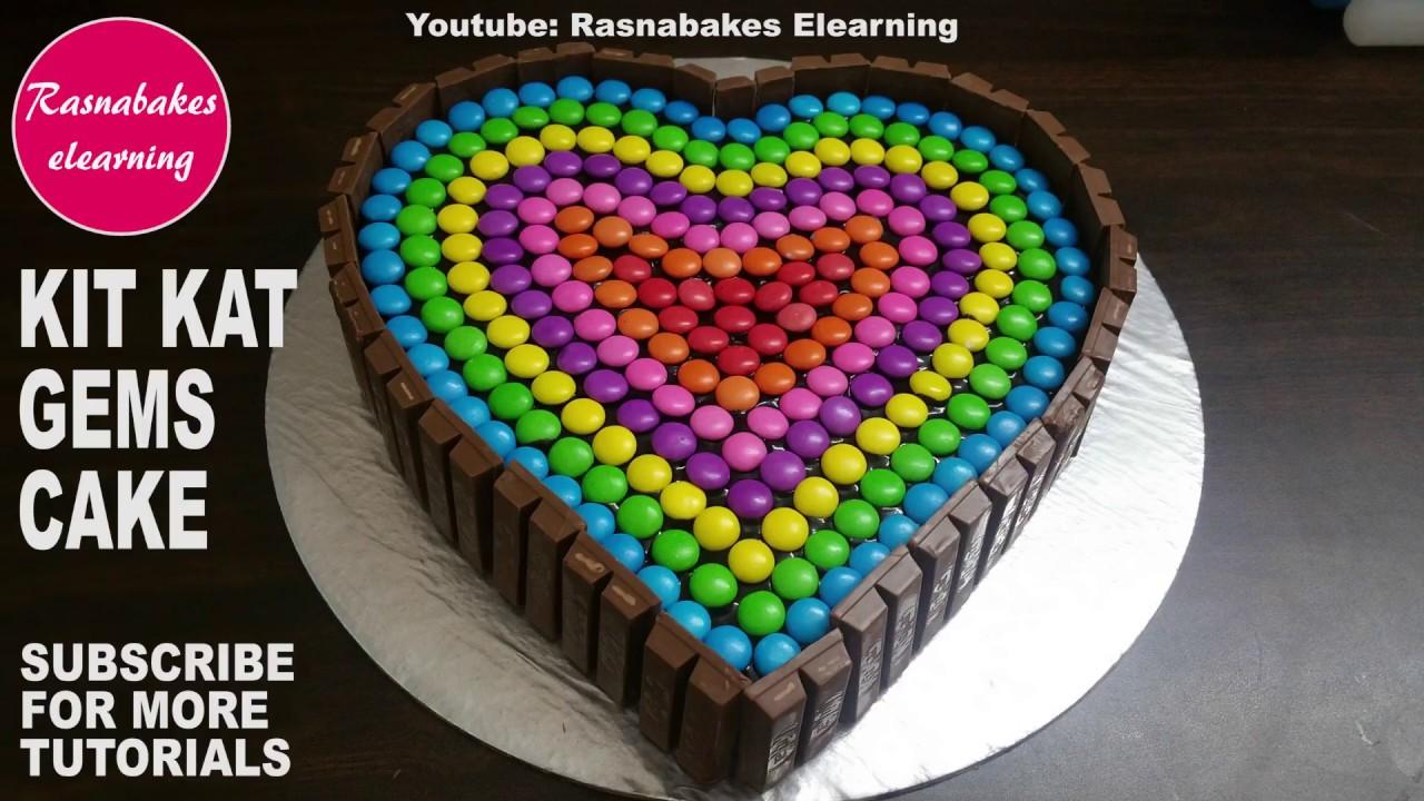 How To Make Kit Kat Cake Designchocolate Birthday Cake Ideas Youtube