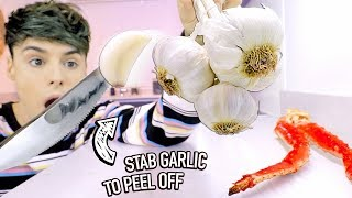 I Tested Ways To PEEL OFF Foods Instantly 2 (GARLIC HACK)