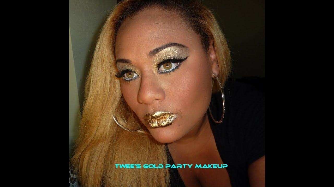 Tweeu0026#39;s Gold Party Makeup - YouTube