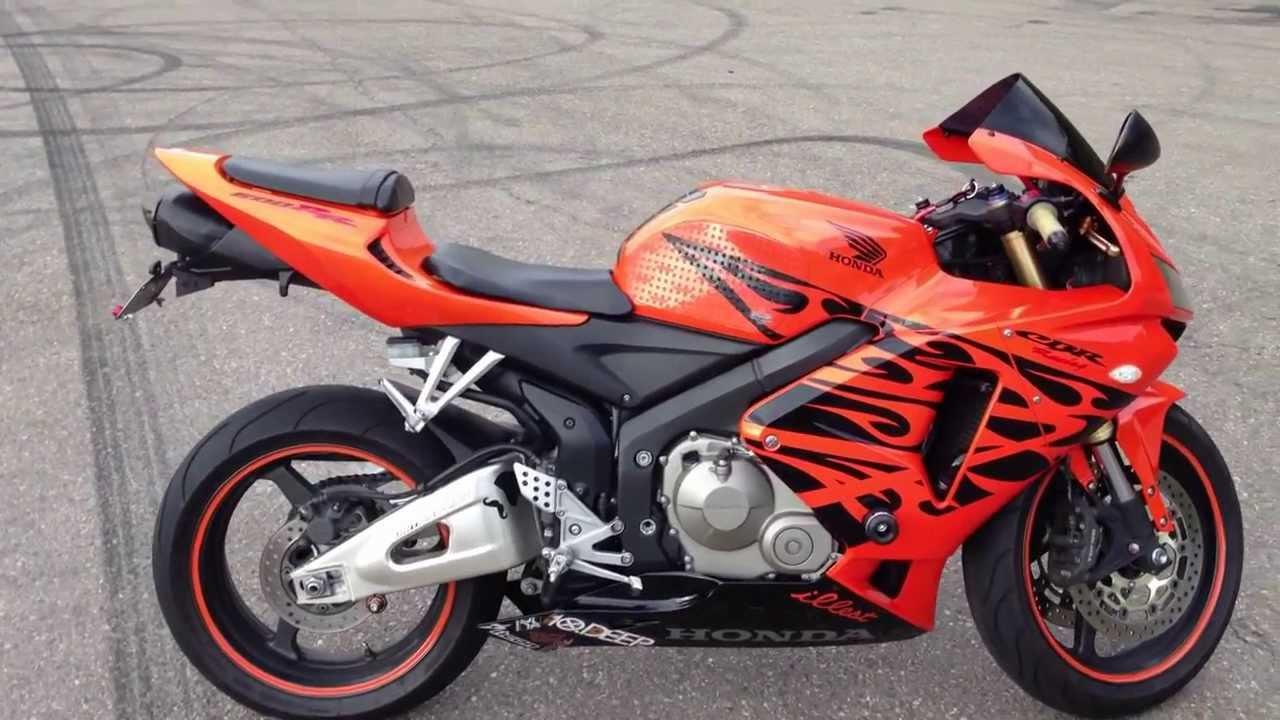 06 Honda CBR600RR - Tribal Orange - YouTube