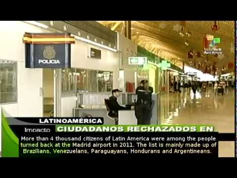 Latin Americans turned back after reaching Madrid airport