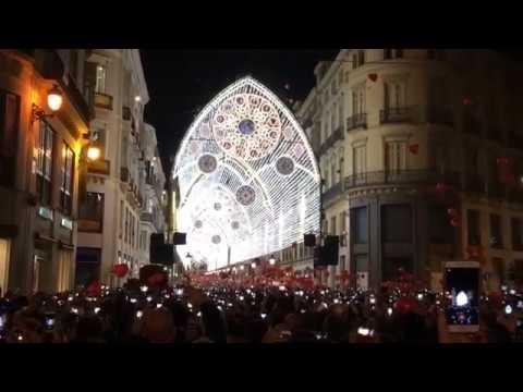 Inauguración del alumbrado de Navidad en Málaga