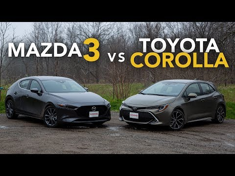 2019 Mazda3 vs Toyota Corolla Hatchback Comparison