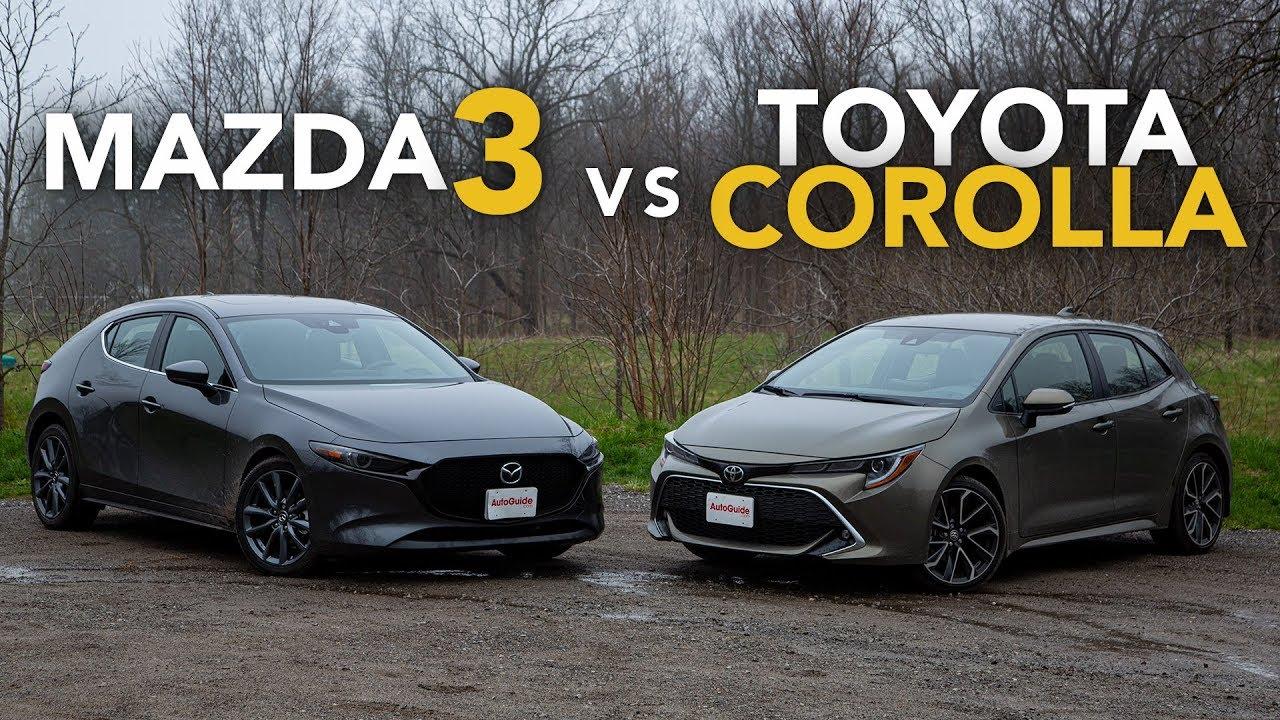 Mazda 3 Sport Vs Touring >> 2019 Mazda3 Vs Toyota Corolla Hatchback Comparison