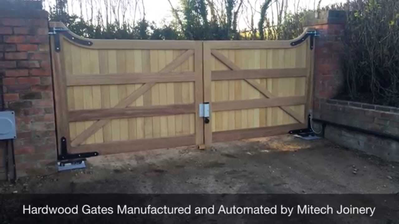 Barn Style Hardwood Gates In Derbyshire