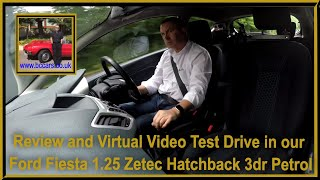 Review and Virtual Video Test Drive in our Ford Fiesta 1.25 Zetec Hatchback 3dr Petrol