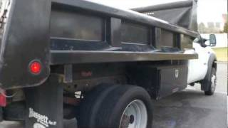 ~~SOLD~~2005 Ford F550 Masonary Dump Truck For Sale~11 Ft Box~Diesel~4x4~A/C