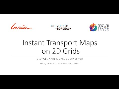 [SIGGRAPH ASIA 2018] Instant transport maps on 2d grids