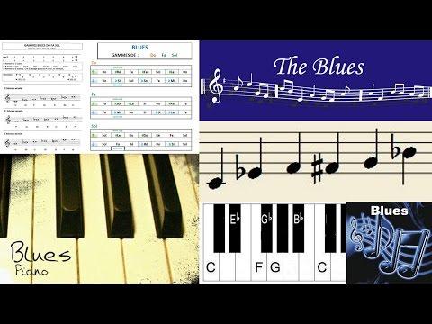 Partitions Piano Gratuites - Blues 1 « Gammes Do Fa Sol » - Piano Mélodie Facile