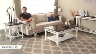 Belham Living Jocelyn End Table - White/walnut - Product Review Video