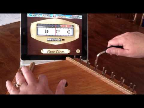 Tuning a Zither / Lap Harp to G Major with a Free Digital Tuning App
