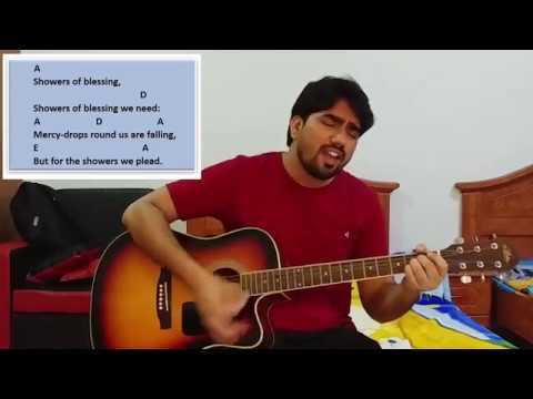 There shall be showers of blessing...! Praise and worship song..! Guitar Tutorial..!