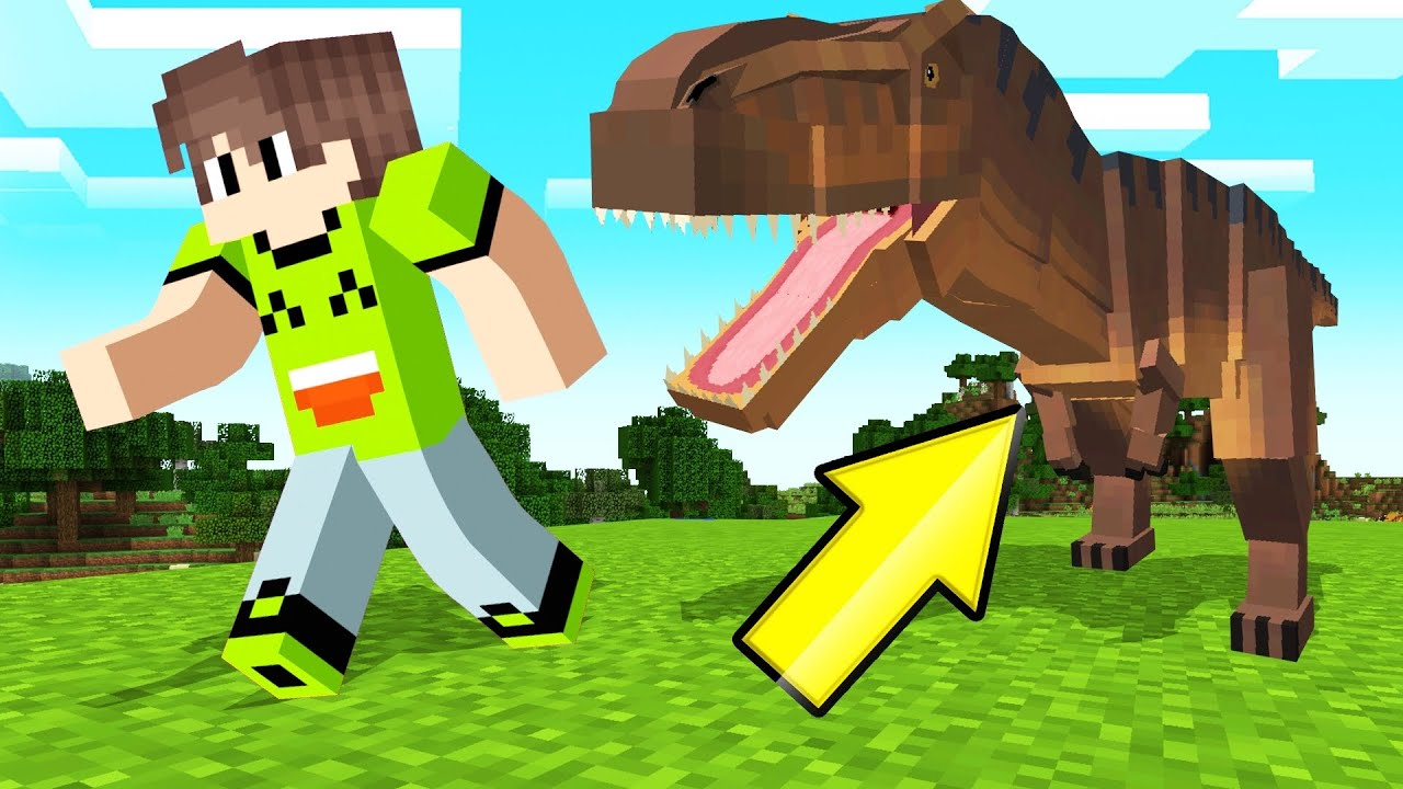 CATCH The DINOSAURS In MINECRAFT! (Mod) thumbnail