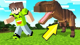 CATCH The DINOSAURS In MINECRAFT! (Mod)