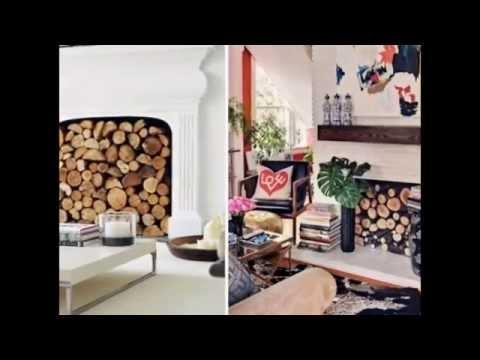 unbenutzter kamin farbige kerzen weißes wohnzimmer einrichten