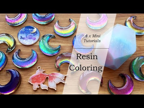 Mini Resin Tutorials: Resin Coloring (Color Shifting, Pearlescent, Colored UV Resin & Clear Film)