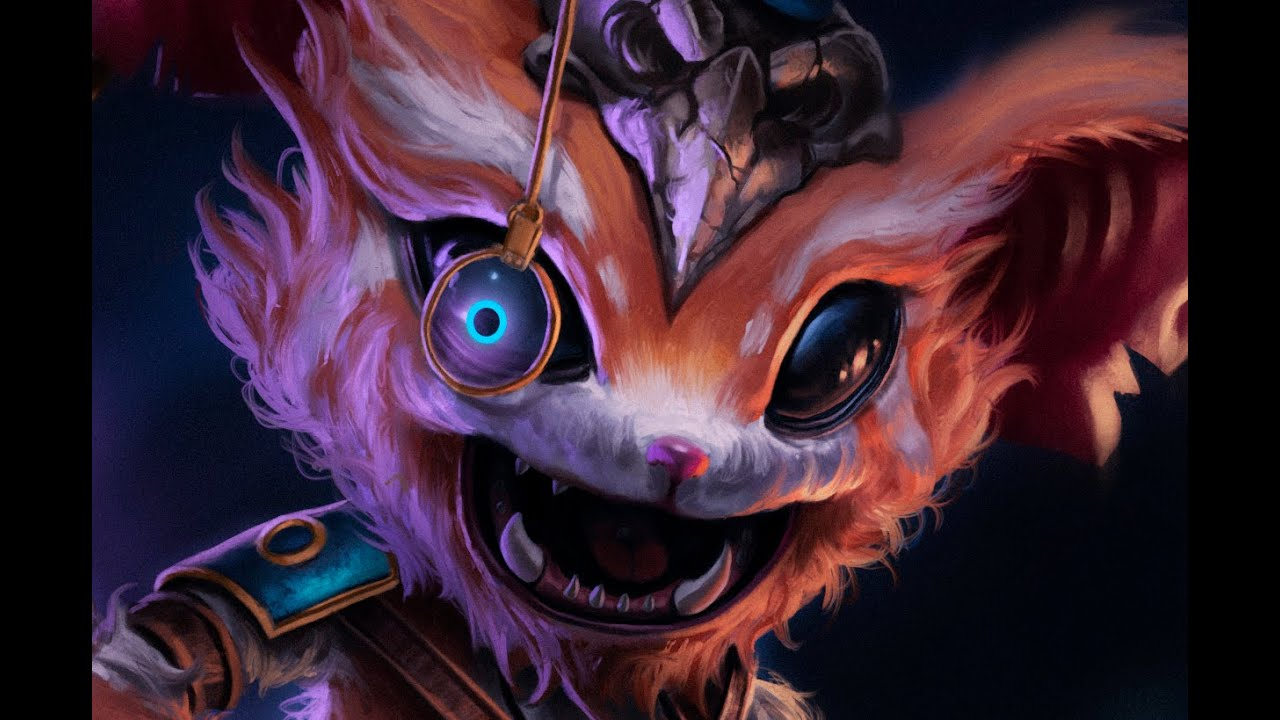 GNAR - league of legends - speed painting - YouTube