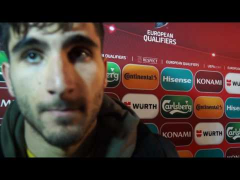 Aras Ozbiliz post-match interview | Armenia vs Kazakhstan