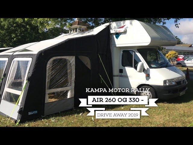 Kampa Motor Rally Air 260 og 330 - drive away 2019
