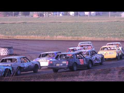 IMCA Hobby Stock Feature from Benton County Speedway on June 19, 2016