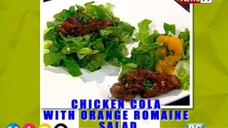Tina Paner's Chicken Cola With Orange Romaine Salad