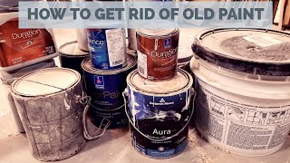 How to Properly disṗose of Old Paint - Garage Cleaning Tip