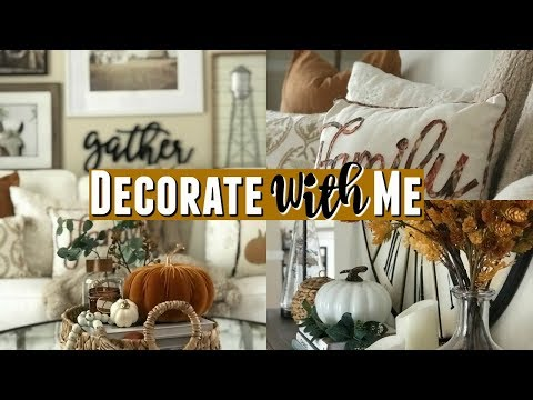 2019 Fall Decorate With Me | Modern Farmhouse Fall Entryway & Sitting Room | Fall Home Decor Tour
