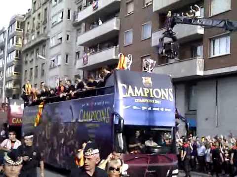Powitanie Pucharu Ligi Mistrzów W Barcelonie.