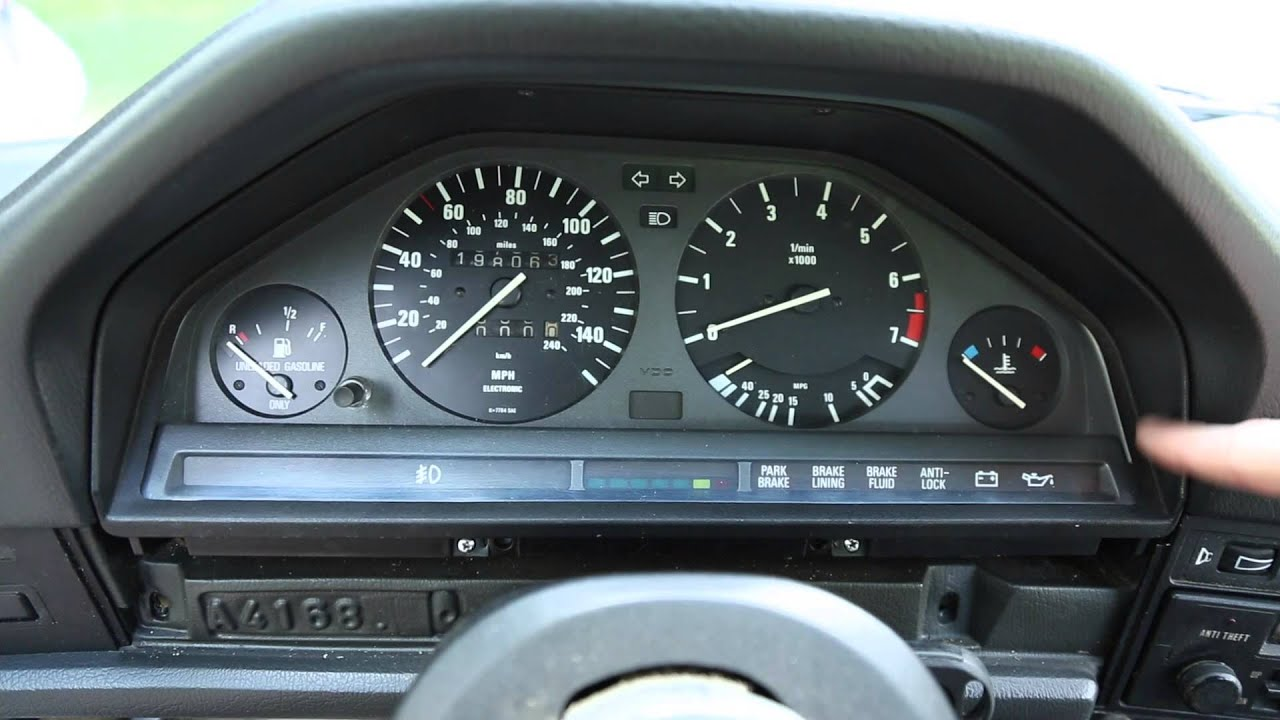 E30 Gauge Cluster Removal Youtube